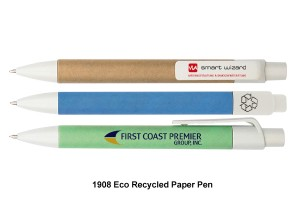 CGG-1908Eco Recycled Paper Pen - Push Action Ball Pen